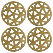 Thirstystone NCH030 Old Hollywood Geometric Cut Coasters with Gold Finish