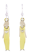 Single Sister with Goldtone Dress Dangle Earrings Silver-Plated Mima & Oly