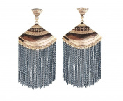 Earrings for Teen Girls Cheap Chain Black Dangle Tassel Womens Earrings .