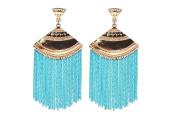 Earrings for Teen Girls Cheap Chain Blue Dangle Tassel Womens Earrings .
