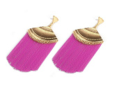 Earrings for Teen Girls Cheap Chain Fuchsia Dangle Tassel Womens Earrings .