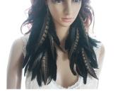 Long Feather Earrings for Women Black Chic Feather Earrings for Women