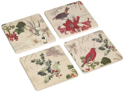 "CoasterStone AS8720 Absorbent Coasters, 11cm , ""Winter Garden"", Set of 4"