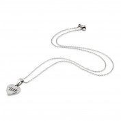 Dainty 'Love' Engraved Heart Shaped Pendant 22 cm Anchor Chain with Gift Box