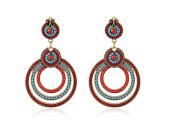 Earrings for Teen Girls Cheap Red Orange Beads Womens Earrings .