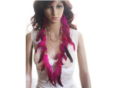 Long Feather Earrings for Women Pink Natural Feather Earrings 75-80cm