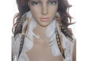 Long Feather Earrings for Women White Natural Feather Earrings