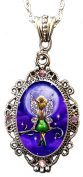 """Alkemie """"Tinkerbell"""" Cameo Pendant Necklace with Sparkles"""