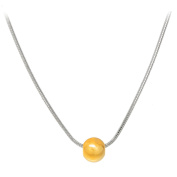 Ball Necklace 46cm Snake Chain TwoTone by Cape Cod Jewellery-CCJ