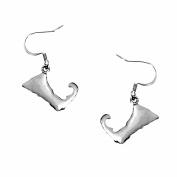 Cape Cod Map Earrings SilverTone by Cape Cod Jewellery-CCJ