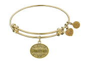 """Angelica Collection Non-antique Stipple Finish Brass """"godmother """" Expandable Bangle"""