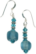 Earrings - Crystal and Recycled Glass Beads