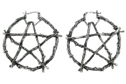 Restyle Gothic Witch Occult Wiccan Branch Pentagram Earrings