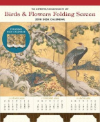Birds and Flowers Folding Screen 2018 Desk Calendar