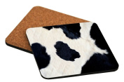 "Rikki Knight ""Cow Hide Design"" Square Beer Coasters"
