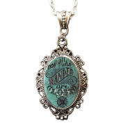Women's Alkemie & Artistry Wander Cameo Necklace Silver/Turquoise