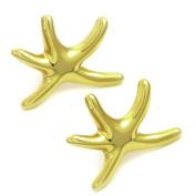 Starfish Studs Sea Life Earrings GoldTone by Cape Cod Jewellery-CCJ