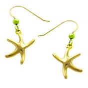 Dancing Starfish Drop Earrings GoldTone by Cape Cod Jewellery-CCJ
