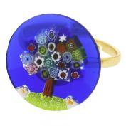 """Murano Millefiori """"Tree of Life"""" Ring 1.9cm"""