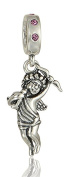 "Best Wing Jewellery .925 Sterling Silver Valentine's Day ""Cupid /w Crystal"" Charm Bead"