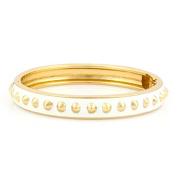 Jewelry11 White Enamel Hinged Bracelets Gift For Her