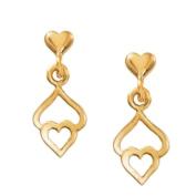 Triple Heart Drop Earrings GoldTone by Cape Cod Jewellery-CCJ