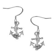 Anchor Drop Earrings SilverTone by Cape Cod Jewellery-CCJ