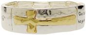 Bracelet - Christian Message Silver Tone Stretch Bracelet - Kiki's John 3:16