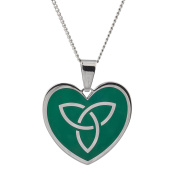 High Polished Stainless Steel Celtic Heart Pendant