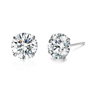 Platinum-Plated Sterling Silver Elements Stud Earrings