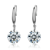 Platinum Plated Sterling Silver Elements Drop Earrings