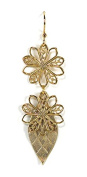 Jody Coyote Earrings Blush Collection QN206-01 gold flower dangle