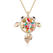 Alvdis Fashion Jewellery Fish Style Alloy Crystal Long Sweater Chain Pendant Necklace, 80cm
