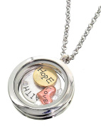 Floating Charms Heart Locket Words Love Hope Faith Fashion Necklace Auralee & Co.