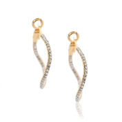 SD collection Crystal Smashed Circle Hoop Earrings