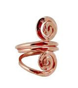 Elaments Design Solid Copper Ring Rolling Spiral Design Size 6 Hand Hammered