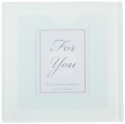 Kate Aspen Frosted-Glass Photo Coasters, Set of 12