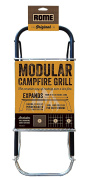 Rome Industries 135 Rome's Chrome Plated Steel Modular Folding Campfire Grill, 80cm by 19cm , Chrome