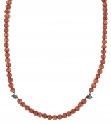 $180 Retail Tag Authentic Made by Charlene Little Navajo .925 Sterling Silver Natural Goldstone Kingman Turquoise Chain Native American Necklace