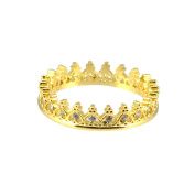 AppleLatte Crown Ring, Gold Plated Size 6