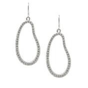Spinningdaisy Abstract Series Crystal Open Unbalanced Circle Dangle Earrings