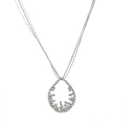 Spinningdaisy Crystal Floral Motif Circle Statement Necklace