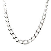 Spinningdaisy Thick Link Chain with Crystal Accent Necklace