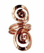 Elaments Design Solid Copper Ring Open Spiral Design Size 7 Hand Hammered