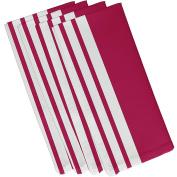 E By Design N4SN8Fushia-19 Big & Bold Stripe Decorative Napkin, 48cm by 48cm , Fuchsia