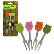 DCI Owl Party Picks (Set of 6), Multicolor