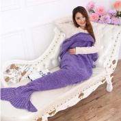 Bigface Up Knitted Mermaid Tail Blanket Crochet for Kids Adult Sofa Sleeping Bags Crochet Mermaid Blanket