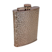 TMD Holdings Copper Hammered Hip Flask, Bronze, 240ml
