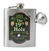 Spoontiques Gold Hip Flask