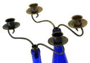 Southern Homewares 2 Candle Wine Bottle Topper Candelabra (Set of 2), Multicolor